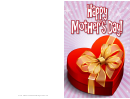 Heart-shaped Box Mothers Day Card