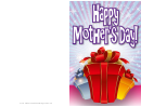 Red Blue Gold Gifts Mothers Day Card
