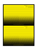 Yellow Gradient Dots Recipe Card 4x6 Template
