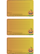 Halloween Recipe Card Template