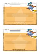 Halloween 24x6 Recipe Card