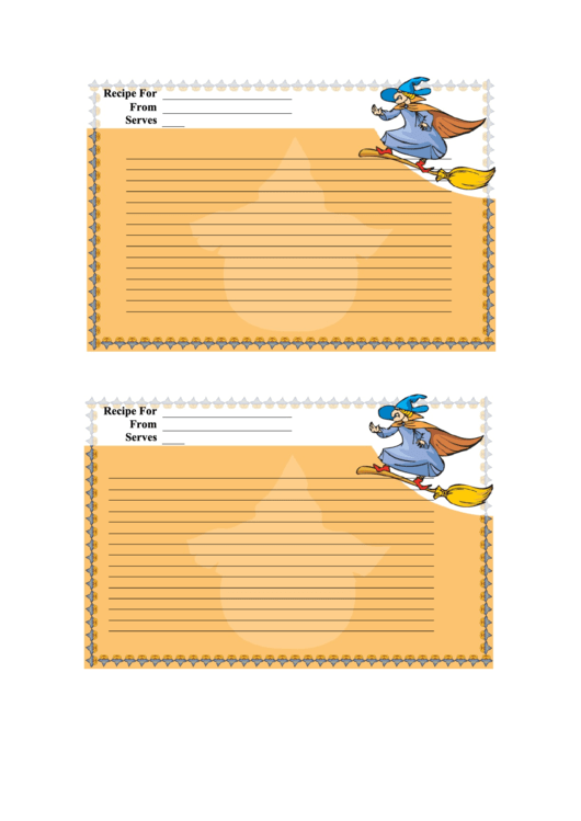 Halloween 24x6 Recipe Card