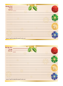 Christmas Decorations Recipe Card Template