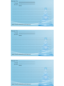 Blue Pine Tree 3x5 Recipe Card Template