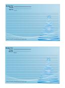 Blue Pine Tree Recipe Card Template