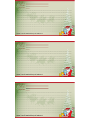 Christmas Recipe Card Template - Green