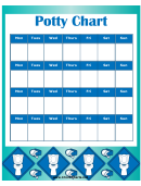 Potty Chart Template - Boy
