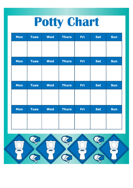 Potty Chart Template - Boy Printable pdf