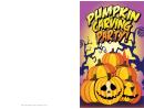 Halloween Pumpkin Carving Party Card Template