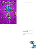 Robot New Year Party Invitation Template