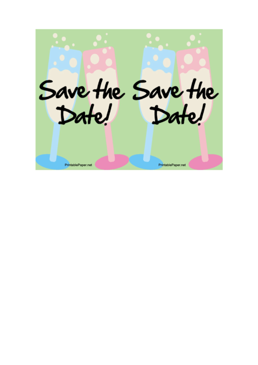 Save The Date Card Template Printable pdf