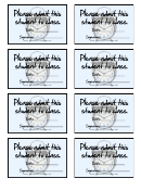 Please Admit This Student To Class Card Template