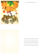 Give Thanks Thanksgiving Card Template