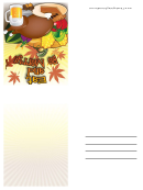 Eat And Be Merry Thanksgiving Card Template