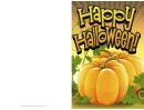 Halloween Orange Pumpkin Card Template