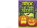 Halloween Trick Or Treat Card Template