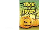 Halloween Orange Trick Or Treat Card Template
