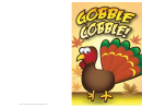 Gobble Turkey Thanksgiving Card Template