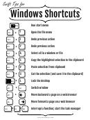 Windows Shortcuts Template