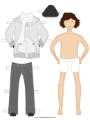 Winter Clothes Paper Doll (male)