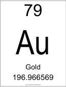 Element - 079 (gold)