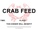 Crab Feed Fundraiser Sign