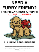 Rent A Puppy Fundraiser Sign - Blank