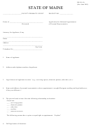Form De-101 (i) - County Probate Court - State Of Maine