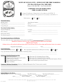 Certificate Of Inspection - Fire Alarm System - Ocean City Fire Marshal