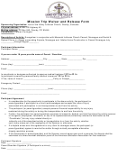 Mission Trip Waiver And Release Form