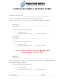 Employee Direct Deposit Form