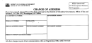 Change Of Address Form - District Of Columbia Government Office Of Tax And Revenue