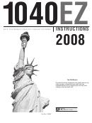 Instructions For Form 1040ez - 2008