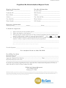 Expedited Re-determination Request Form