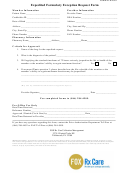 Form Frx002 - Expedited Formulary Exception Request Form