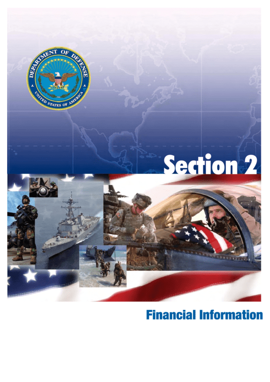 Department Of Defense Agency Financial Report 2007 - Section 2: Financial Information Printable pdf