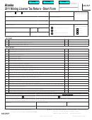 Form 662sf - 2011 Mining License Tax Return - Short Form