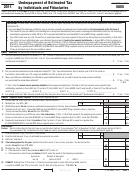 California Form 5805 - Underpayment Of Estimated Tax By Individuals And Fiduciaries - 2011