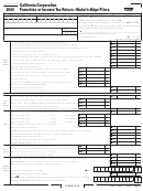 Form 100w - California Corporation Franchise Or Income Tax Return - Water's-edge Filers - 2000