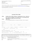 Parade Entry - Henderson Chamber Of Commerce Form