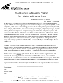 Small Business Sustainability Program - Tier I Waiver And Release Form