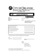 City Of Orlando Municipal Public Service Tax