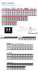 Ogio, Nikegolf, Eddie Bauer Clothing Size Charts