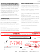 Form F-1120a - Florida Department Of Revenue - Corporate Income Tax - 2004