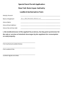 Special Event Permit Application - New York State Liquor Authority