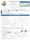 Form Dol-129 - Retailer Application