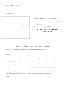 Warrant To Satisfy Judgment - Superior Court Of New Jersey County Division