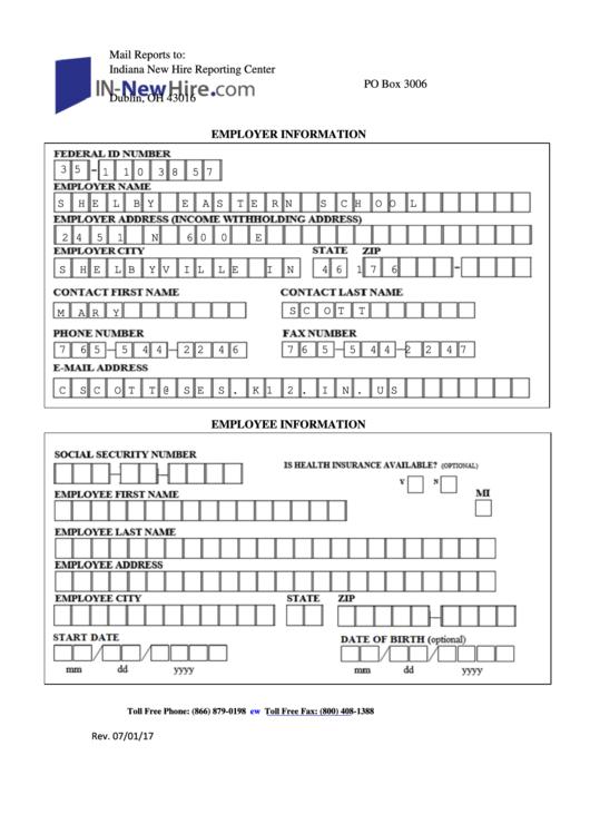 Employer Information Form