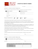 Stop Payment Form - Usc Credit Union