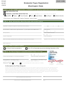 Washington State Statewide Payee Registration With Substitute Form W-9 - Request For Taxpayer Identification Number And Certification - 2015